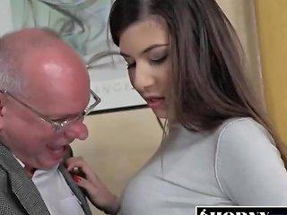Horny Old Grandpa Albert Prefers Hot Young Teens Like Anya Krey