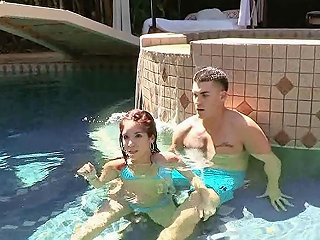 Horny Mom In The Pool