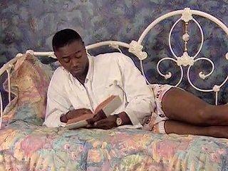 Classic Interracial Sarah Young Takes A Big Black Cock