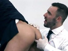 Muscle hairy hunk gets fucked hard