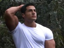 MuscleHunks Man of the Year 2009 Amerigo Jackson looks good from whatever angle you look at him. He can make the sun shine brighter and he can even ma