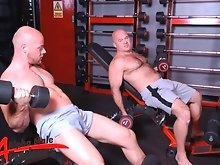 While lifting weights, sexy skinhead Nathan Price sees something to do that looks like much more fun that dumbbells, Ray Stone&rsquo