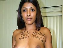 Indian Slut Black Branded Interracial Blowjob Cum