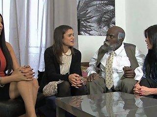 Interracial Threesome For The Slutty Ambre Aphrodite
