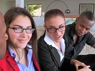 Interracial Babes Ass Fucked In Cfnm Fourway Free Porn Af