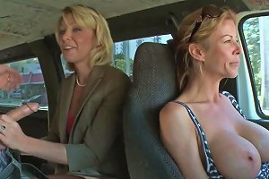 Blonde Milf Gets Fucked On The Bang Bus