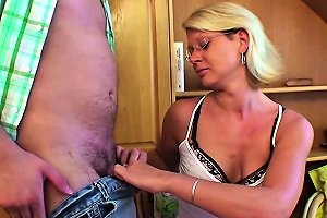 He Seduce Hot Step Mom To Get His First Fuck With Her