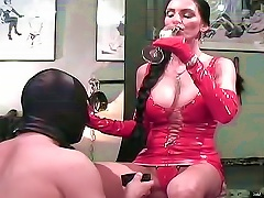 Kinky Latex Dress On Dominant Mistress