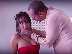 Asian Babe Katsuni Peels Off Her Latex Outfit So She Can Fuck