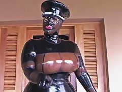 The Busty Latex Uniform Bitch Blowjob Handjob With Latex Gloves Cum In My Mouth