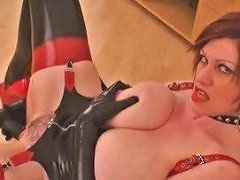Busty Bitch In Latex With Dildo By Tlh
