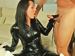 Sexy In Shiny Black Catsuit Free Sexy Black Porn Video Af