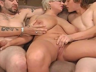 Blond Mom In A Threesome