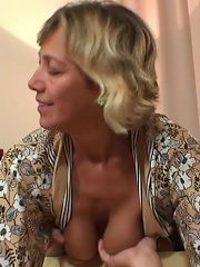 Shes a gorgeous granny with a wet pussy and she needs rock hard dick inside her