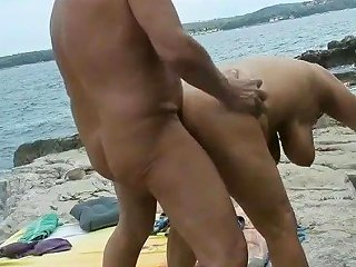 Amateur Mature Couple Sex On The Beach