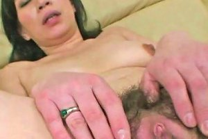 Freaky Stud Toys Hairy Muff Of Old Asian Fuck Doll Greedily