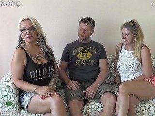 2 Amateur Milfs Invited A Friend Over To Have Their First Threesome