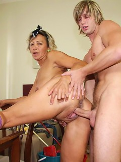 Shes a lusty granny with a desire for hard dick all the time that hes going to fulfill today