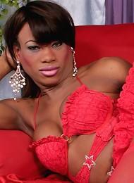 Wonderful black tgirl model ...