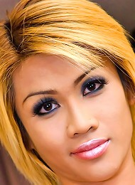 Ethnic dick-girl Deedee worshipping her hot curves