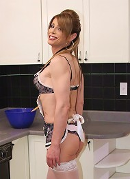 Hot t-milf Jazmine gets nasty in the kitchen