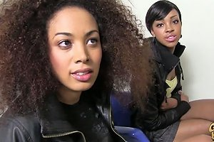 Ebony Hotties Serena Ali And Amber Steel Open Up With Dog Any Porn